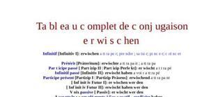 Tableau de conjugaison du verbe erwischen