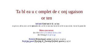 Tableau de conjugaison du verbe orten