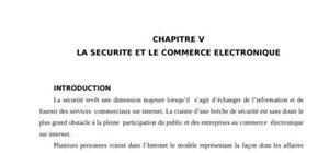 La sécurité et le commerce éléctronique