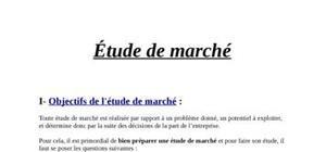 Recherche marketing/ Etude de marché