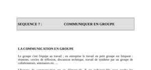 Communication en groupe