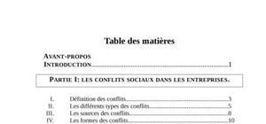 La gestion des conflits sociaux