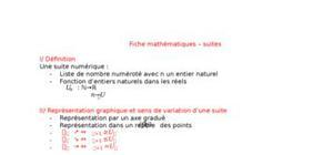 Fiche mathématiques - les suites