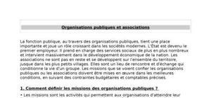 Organisations publiques et associations