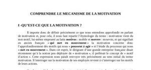 Comprendre le mécanisme de la motivation