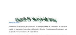 Objectifs et stratégie marketing du MARJANE