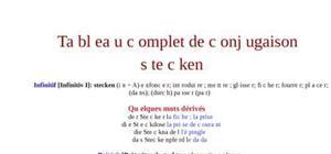 Tableau de conjugaison du verbe stecken