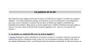 La justice et la loi