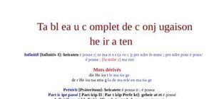 Tableau de conjugaison du verbe heiraten