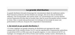 La grande distribution