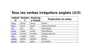 Tous les verbes irréguliers anglais (3/3)