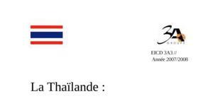 Dossier socio-culturel de la Thaïlande