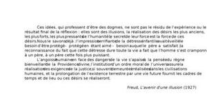 Freud, L'avenir d'une illusion (1927)