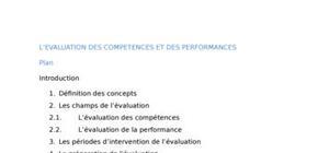 L'évaluation des compétences et des performances