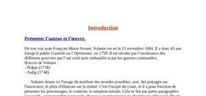 Candide chap 1 de Voltaire