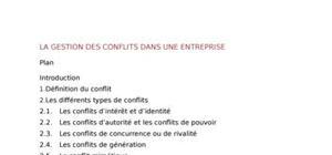 La gestion des conflits dans une entreprise