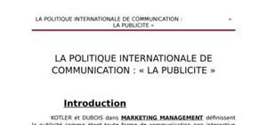 La politique internationale de communication