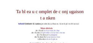 Tableau de conjugaison du verbe tanken