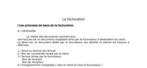 La facturation : principes de base