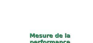 Mesure de la performance & Contrôle de gestion
