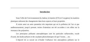 L'influence des atmosphères polluées sur le vieillissement