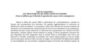 Les mouvements de population en europe