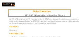 BTS NRC (Négociation et Relation Clients)