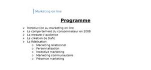 Le marketing online