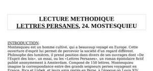 Analyse Lettres persanes - Montesquieu