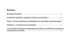 La sociologie : histoire, généralités ...