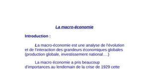 Les concepts macroéconomiques