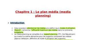 Le plan média (media planning)