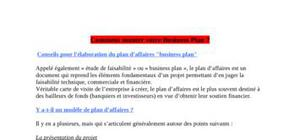 Comment monter votre business plan ?