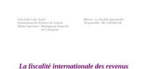 La fiscalité internationale des revenus des personnes physiques