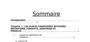 Les banques et places financières offshores