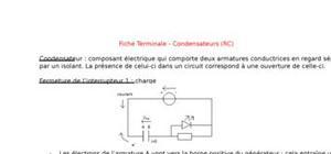Fiche terminale - condensateurs (rc)