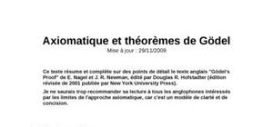 Axiomatique et théorèmes de Gödel