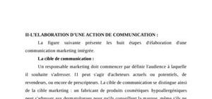 L'elaboration d'une action de communication