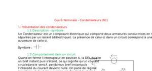 Cours terminale - condensateurs (rc)