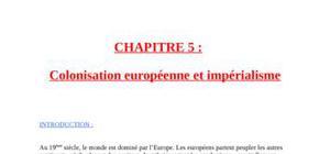 Colonisation européenne et impérialisme