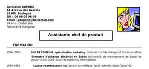 CV-assistante chef de produit