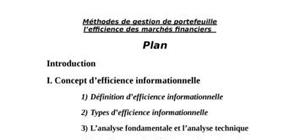 Efficience informationnelle des marchés financiers
