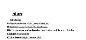 La marche des changes marocain