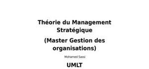 Théorie du management stratégique