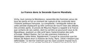 La France de 1940 à 1945