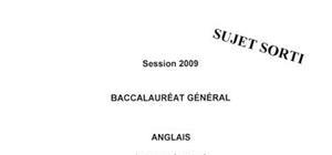 Sujet bac L 2009 anglais lv1