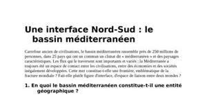 L'interface nord/sud
