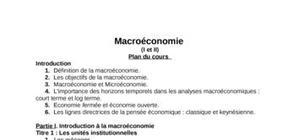 Tout sur la macroéconomie