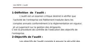 Audit et contrôle interne en algérie