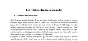 Les relations franco-allemandes